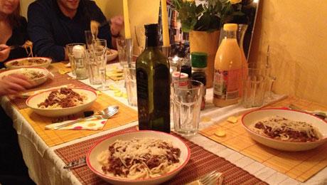 Daniela hat uns leckere Pasta gekocht - War echt der Wahnsinn!